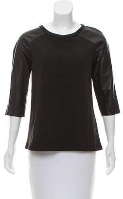 AllSaints Knit and Leather Top