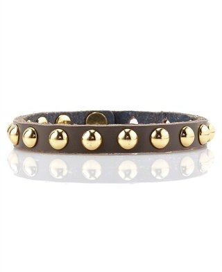 Linea Pelle Studded Skinny Cuff, Brown