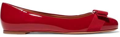 Salvatore Ferragamo - Varina Patent-leather Ballet Flats - Red