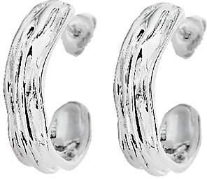 Hagit Sterling Sculpted Half Hoop Earrings