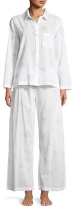 Pour Les Femmes Palms Cotton Pajama Set