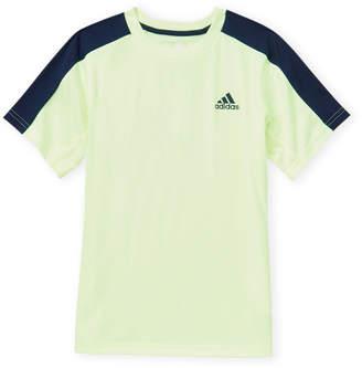 1519717b adidas Boys 8-20) Neon Yellow & Navy Training Tee