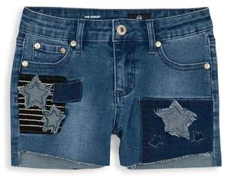 AG Adriano Goldschmied Kids Little Girl's Denim Patch Shorts