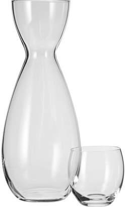 Household Essentials Bedside Water Carafe Set, Decanter & Glass Top, 36 oz.