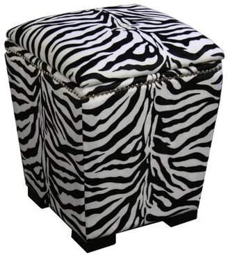 ORE Furniture Zebra Storage Ottoman ORE Furniture