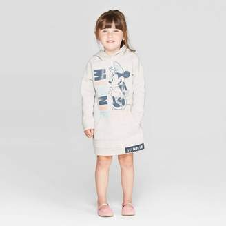 BEIGE Minnie Mouse Toddler Girls' Minnie Mouse Too Cute Sweatshirt Dress