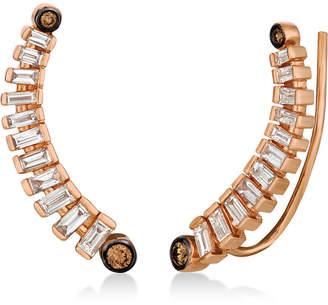 LeVian Le Vian Chocolatier Diamond Ear Climbers (1/2 ct. t.w.) in 14k Rose Gold