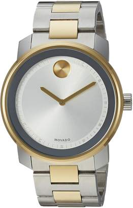 Movado Men's Swiss Quartz and Stainless Steel Casual Watch, Color:Two Tone (Model: 3600431)