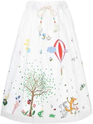 Mira Mikati Fairytale printed skirt