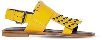 Marni Junior Embellished Patent Leather Sandals
