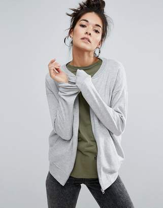 Asos Design The Ultimate Bomber Jacket In Jersey