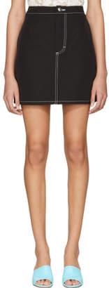 Eckhaus Latta Black EL Miniskirt