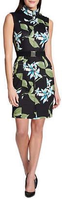 Tommy Hilfiger Printed Scuba Sheath Dress