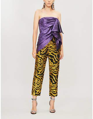 Halpern Metallic and sequinned jumpsuit