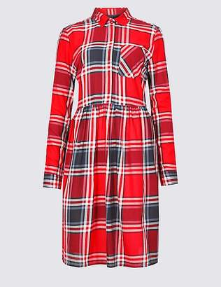 Marks and Spencer Pure Cotton Checked Dress