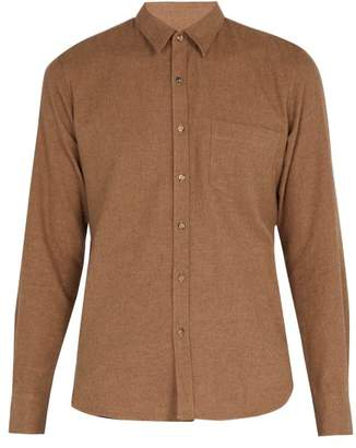 De Bonne Facture - Essential Cotton Flannel Shirt - Mens - Brown