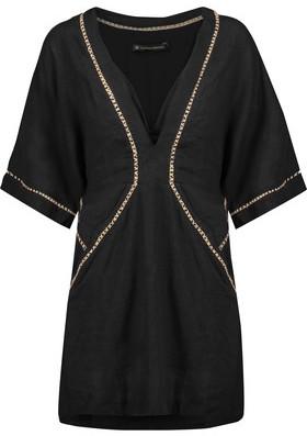 Vix Joanna Embroidered Linen-Blend Mini Dress $248 thestylecure.com