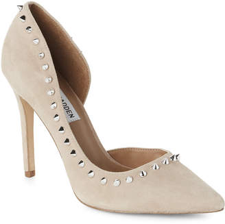 Steve Madden Taupe Pacey Spike Trim d'Orsay Pumps