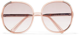 Chloé Myrte Square-frame Acetate Sunglasses - Peach