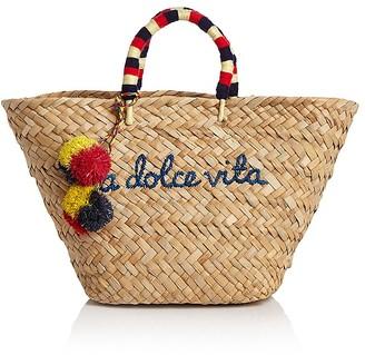 KAYU La Dolce Vita Raffia Tote - 100% Exclusive $138 thestylecure.com