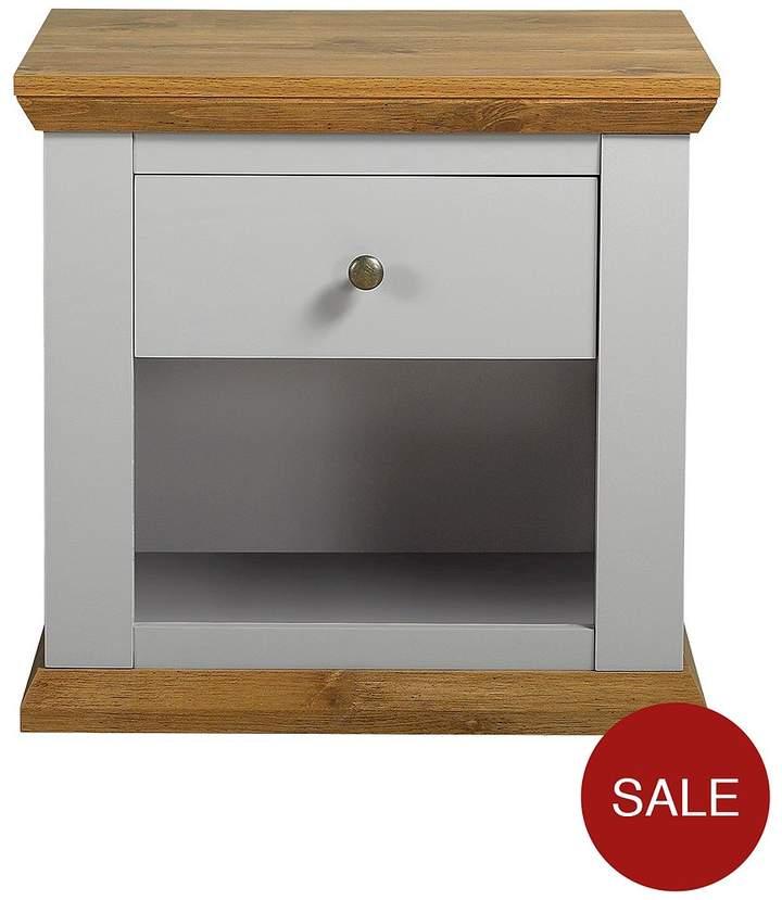 Alston Lamp Table - Grey/Oak-Effect