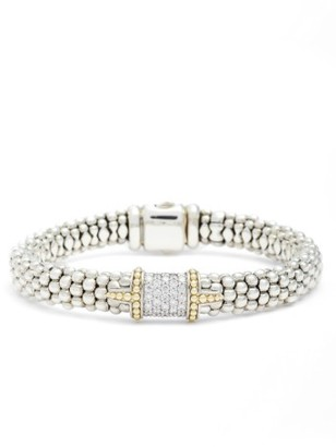 Women's Lagos Diamond & Caviar Square Bracelet $3,000 thestylecure.com