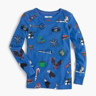 J.Crew Boys' pajama set in winter wonderland