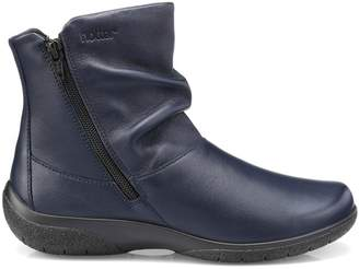 Hotter Dark Blue 'Whisper' Wide Fit Ankle Boots