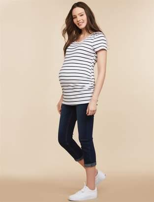 Motherhood Maternity Side Panel Skinny Leg Maternity Crop Jeans