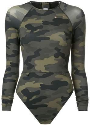 The Upside camouflage rash swimsuit