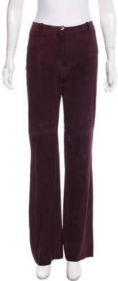Plein Sud Jeans Suede Mid-Rise Pants
