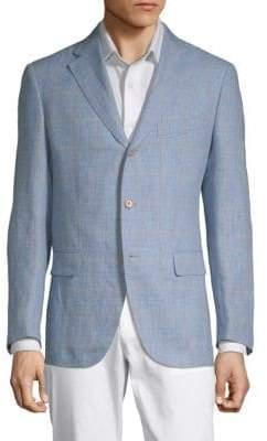 Caruso Windowpane Notch Lapel Jacket