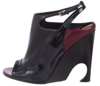 Christian Dior Peep-Toe Slingback Booties