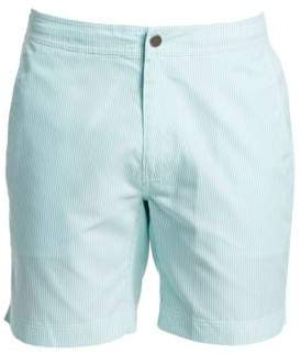 Saks Fifth Avenue MODERN Micro Stripe Swim Shorts
