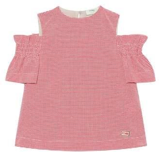 Fendi Gingham checked cotton-blend dress