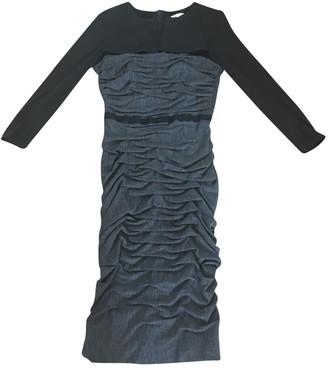 Paule Ka Anthracite Wool Dresses