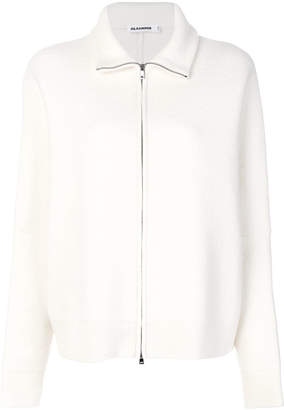 Jil Sander zip front high neck cardigan