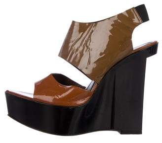 Marni Patent Leather Slingback Sandals