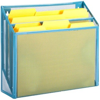 Honey-Can-Do Mesh Vertical File Sorter with 3 Bins, Multicolor