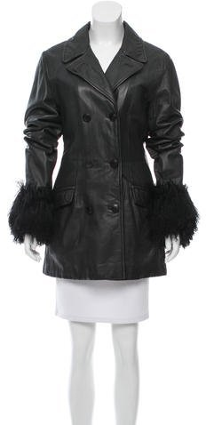 Salvatore FerragamoSalvatore Ferragamo Fur-Accented Leather Jacket