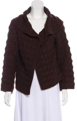 Magaschoni Hooded Wool Cardigan