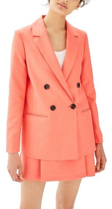 Women's Topshop Ella Double Breasted Suit Jacket $125 thestylecure.com