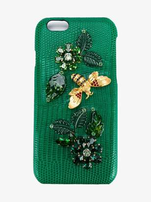 Dolce & Gabbana Crystal Embellished Goatskin iPhone 6 Case