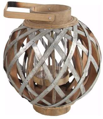 Benzara Wood and Metal Round Shanghai Lantern