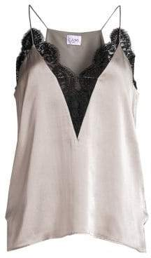 CAMI NYC Channing Silk& Lace Camisole