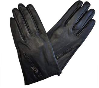 Moda Ms Riga Womens Genuine Leather Driving Gloves with Zipper Cuff