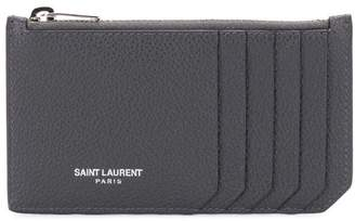 Saint Laurent zipped card holder