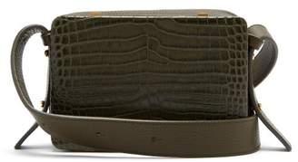 Lutz Morris - Maya Crocodile Effect Leather Cross Body Bag - Womens - Khaki