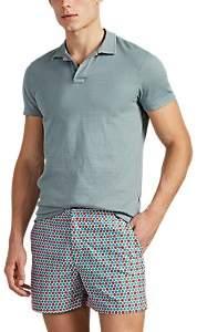 Orlebar Brown Men's Cotton Slub Jersey Polo Shirt - Green
