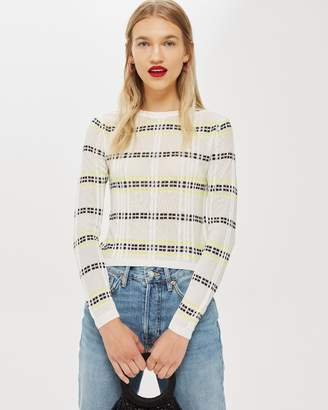 Topshop Check Detail Top